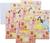 Uitnodigingen Disney Prinsessen diamanten 5 stuks