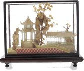 Chinees kurk schilderij - Botanisch schilderij - 3D schilderij bruin - 12.5cm