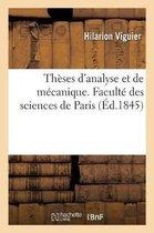 Theses d'analyse et de mecanique. Faculte des sciences de Paris