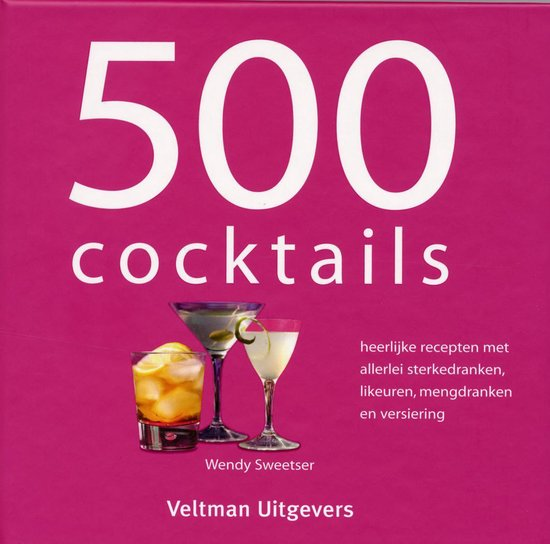 Boek cover 500 cocktails van W. Sweetser (Hardcover)