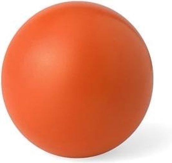Anti Stressbal 6 cm om hand, pols of onderarm te versterken - Oranje/Rood