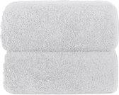 Graccioza Long Double Loop handdoek met fraai afgewerkte dubbel gestikte katoenen rand 70x140cm - wit