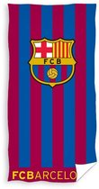 FC Barcelona - Strandlaken - Handdoek - 70x140cm - Stripes Logo