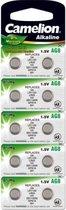 Camelion Alkaline knoopcelbatterij AG8 / LR55, 1,5 Volt, 0% HG - 10 stuks