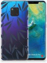 Huawei Mate 20 Pro TPU Hoesje Design Leaves Blue