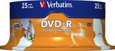 Verbatim 43538 DVD-R Wide Inkjet Printable ID Brand Schijven