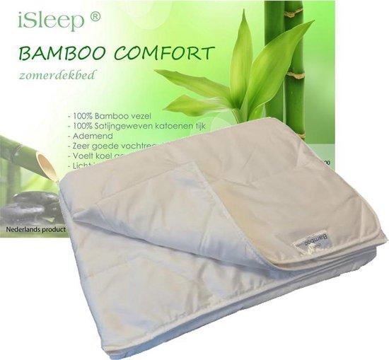 iSleep Bamboo Comfort - Zomerdekbed - Eenpersoons - 140x200 cm - Wit