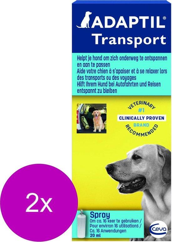 Adaptil Anti-Stress Transportspray Hond - Anti stressmiddel - 2 x 20 ml