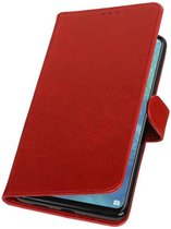 Rood Pull-Up Booktype Hoesje voor Huawei Mate 20 X
