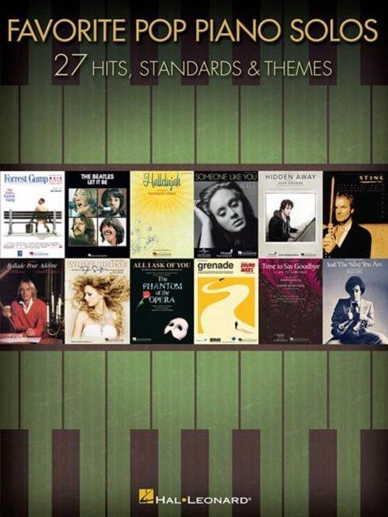 Boek cover Favorite Pop Piano Solos van Hal Leonard Publishing Corporati (Hardcover)