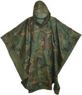 Poncho - Regenponcho - Camouflage - Legerprint - Herbruikbaar - Hoogwaardige Kwaliteit