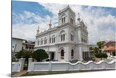 De Meeran moskee bij Fort Galle in het Aziatische Sri Lanka Aluminium 90x60 cm - Foto print op Aluminium (metaal wanddecoratie)