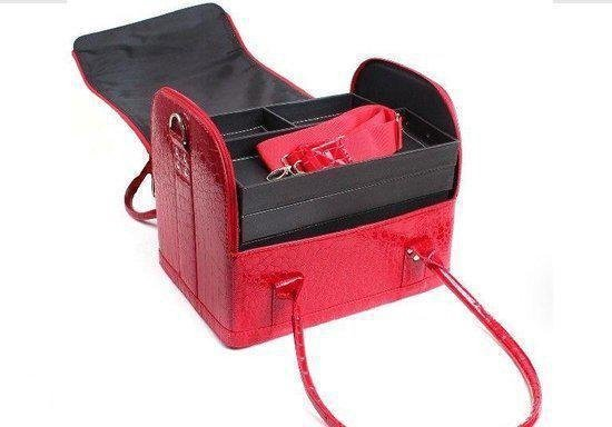 Cadeau Idee  - Beautycase - Croco Red Diva