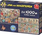 Jan van Haasteren Fijne Feestdagen 2in1 Puzzel Oud