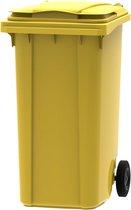 Kunststof Kliko Afval Rolcontainer Mini container - 240 liter - Geel