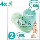 Pampers Pure Protection Luiers - Maat 2 (4-8 kg) - 108 stuks - Maandbox
