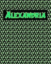 120 Page Handwriting Practice Book with Green Alien Cover Alexandria