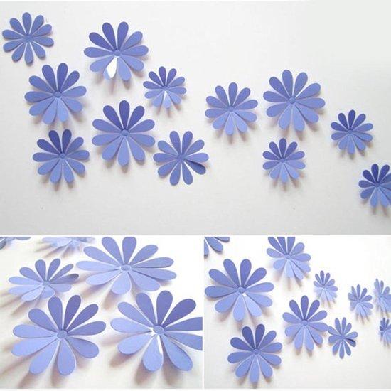 Bol Com 3d Bloemen Stickers Muurstickers Paars 12 Stuks Decoratie Stickers Muur Wand