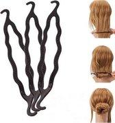 Haar style hulpstuk - Maak de perfecte haarknot - Styling tool haarclip easy knotje donut bun knot maker