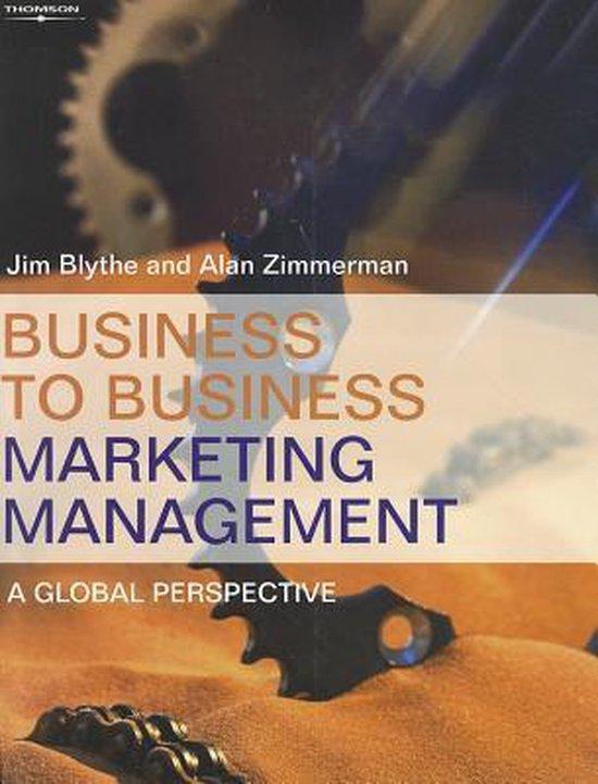 Boek cover Business to Business Marketing Management van Alan Zimmerman (Paperback)