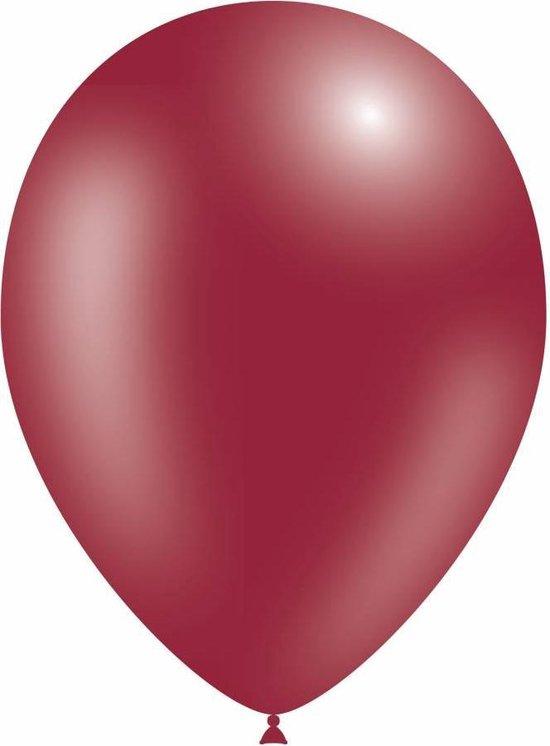 Bordeaux Rood Ballonnen Metallic - 100 stuks
