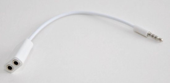 Hoofdtelefoon audio Computerkabel splitter - 3.5mm jack  -wit