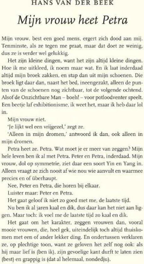 Mijn vrouw heet Petra - Hans van der Beek | Readingchampions.org.uk