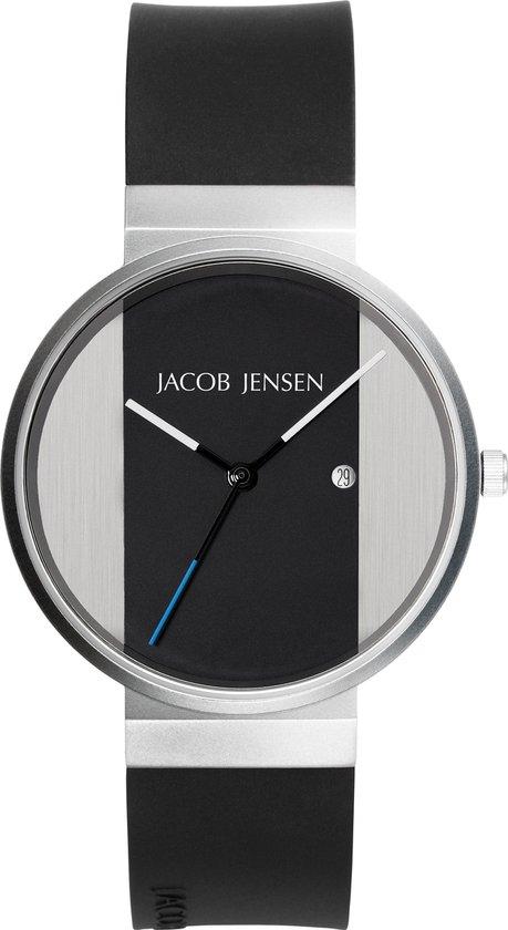 Jacob Jensen 712 horloge heren zwart edelstaal