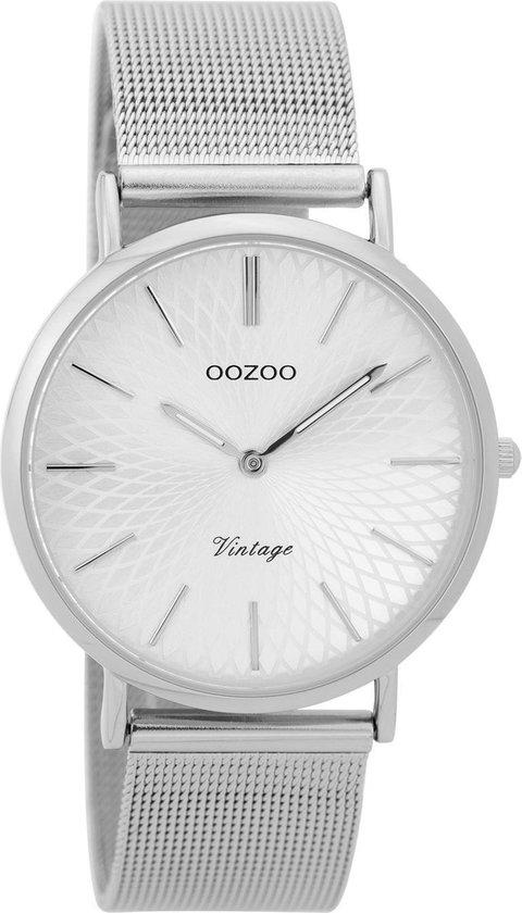 OOZOO Vintage Zilverkleurig horloge C9341 (36 mm)