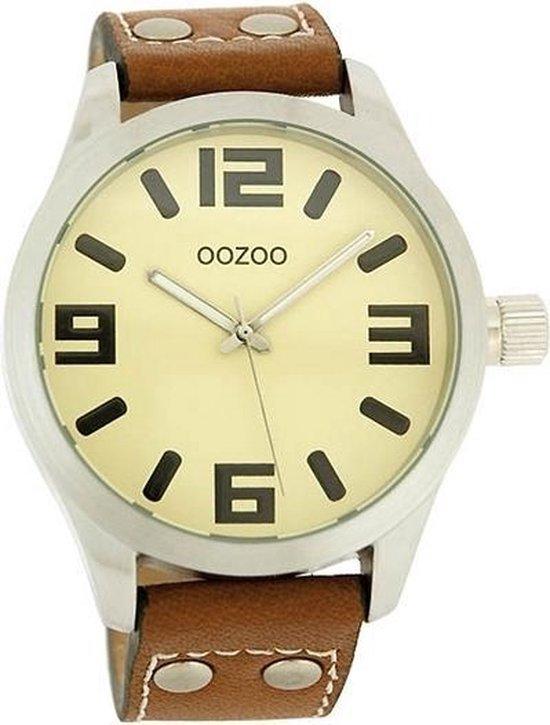 OOZOO Timepieces C1052 – Horloge – 46 mm – Leer – Bruin