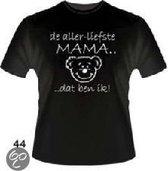 Slogan T-Shirt Maat XL - De allerliefste mama... Dat ben ik