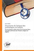 Structures Du Lexique Des Pathologies En Kabyle