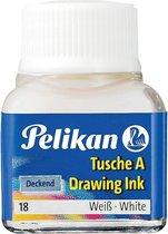 13x Pelikan Oost-Indische inkt wit, flesje van 10 ml