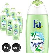 Fa Bad Yoghurt Aloe Vera Badschuim - 500 ml - 6 stuks - Voordeelverpakking