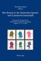 Der Kanon in Der Deutschen Sprach- Und Literaturwissenschaft