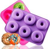 Siliconen donut bakvorm / mal - Zelf donuts maken! - SEC - 27 x 18 x 4 CM