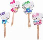 Cupcake Toppers | Hello | Taartversiering | Cocktailprikkers | 24 Stuks + 1 Ballon