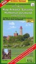 Rügen, Kap Arkona, Sassnitz, Halbinsel Jasmund und Umgebung Radwander- und Wanderkarte 1 : 35 000