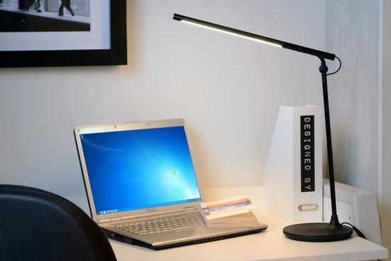 Lucide ELMO - Bureaulamp - Ø 17 cm - LED - 1x4W 3000K - Zwart - Lucide