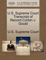 U.S. Supreme Court Transcript of Record Corbin V. Gould