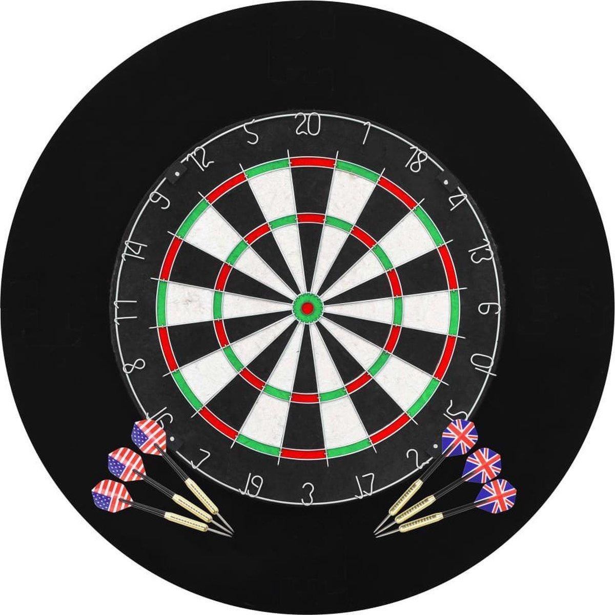 Dartbord professioneel met 6 darts en surround sisal - Dartset