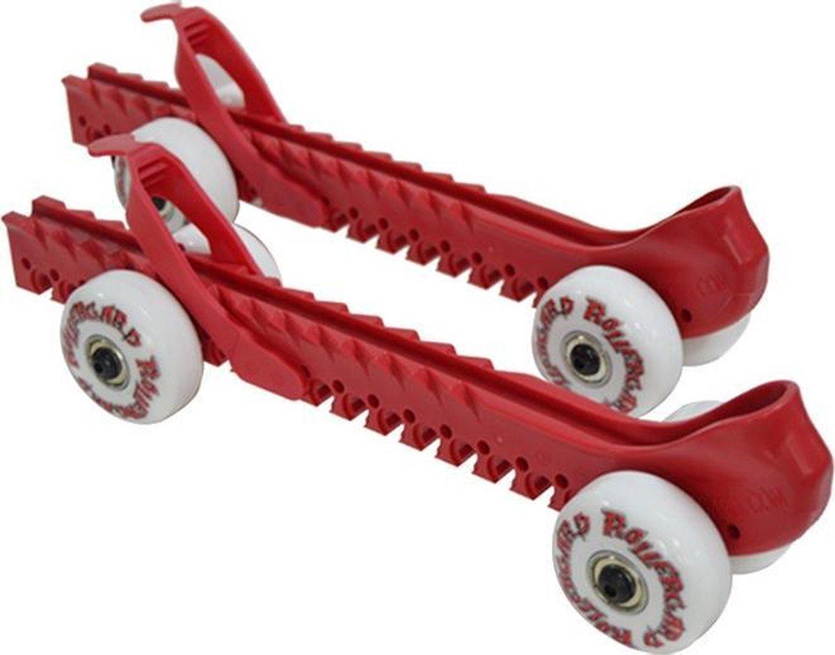 Rollergard Schaatsbeschermers Met Wielen 2 Stuks Rood