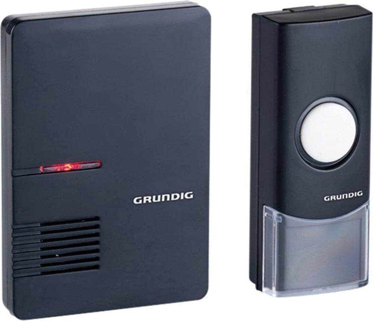 Grundig - Draadloze deurbel - LED - 36 Tunes - Bereik 80m2