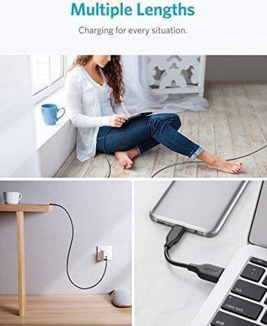Anker USB C kabels 5 pack (1x 10cm, 3x 90cm, 1x 180cm) - Anker