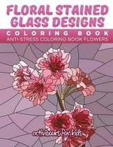 Floral Stained Glass Designs Coloring Book