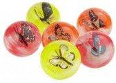 Stuiterbal met vlinder 4,5 cm
