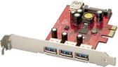 Lindy - Premium USB 3.0 Karte, 3+1 Port, PCIe
