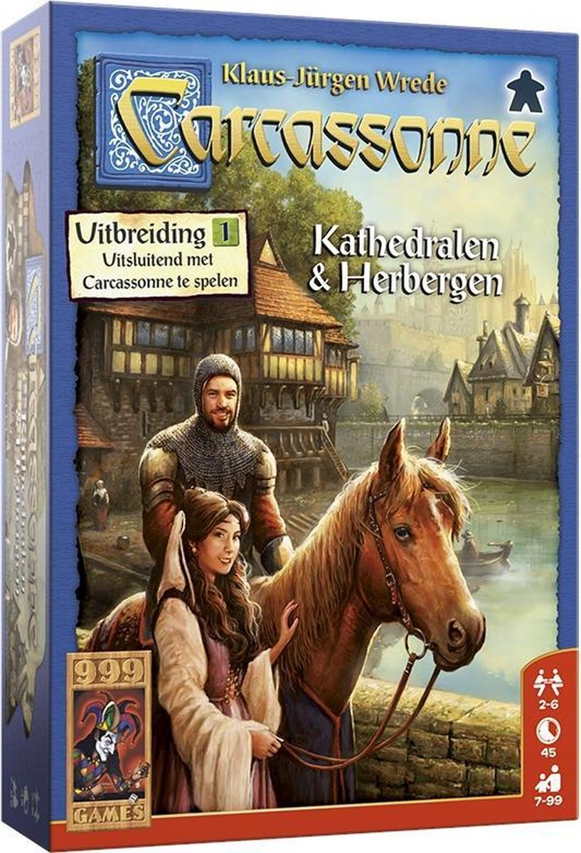 999 Games bordspel Carcassonne: Kathedralen & Herbergen