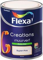 Flexa Creations - Muurverf Extra Mat - Stylish Pink - 1 liter