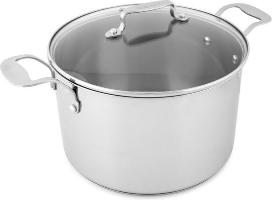 Tefal Jamie Oliver Kookpot  - RVS - Ø 24 cm - Met glazen deksel - 6,7 L